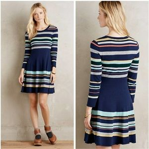 MOTH Anthropologie striped sweater dress